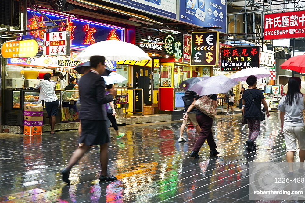 A rainy day in Causeway Bay, Hong Kong Island, Hong Kong
