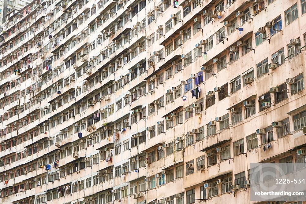 Densely crowded apartment buildings, Hong Kong Island, Hong Kong