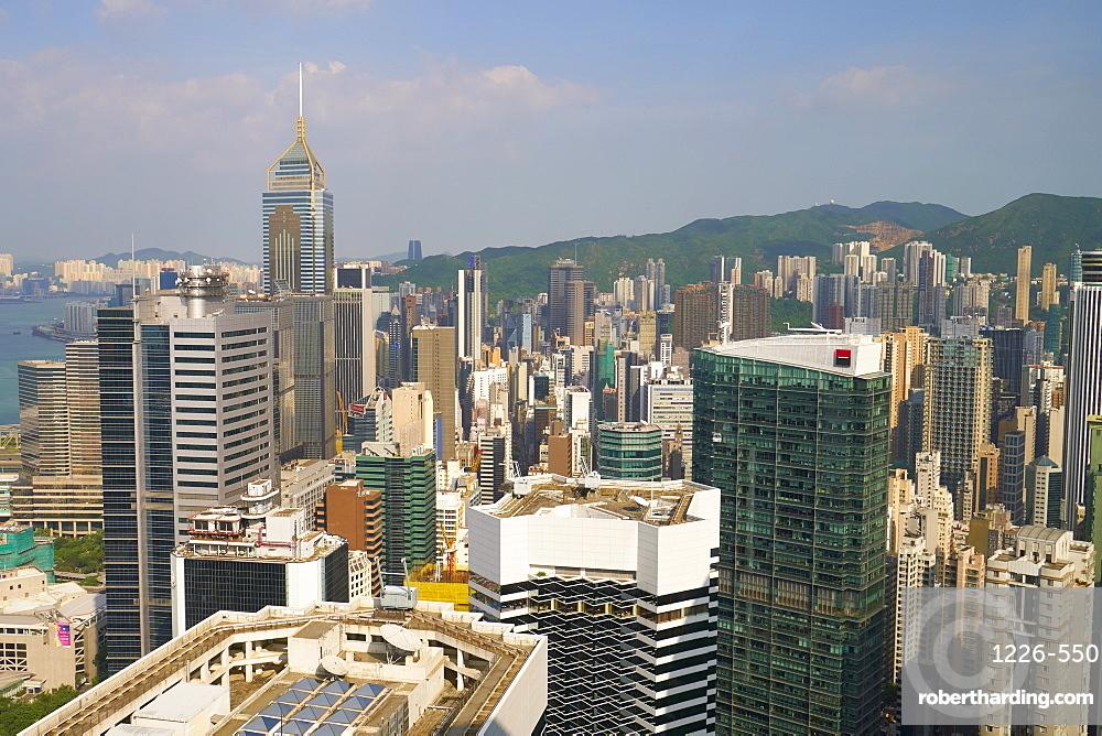 Skyscrapers on Hong Kong Island, Hong Kong, China, Asia