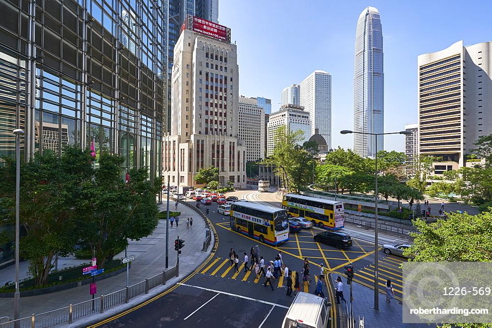 Central district, Hong Kong's busy financial centre, Hong Kong Island, Hong Kong