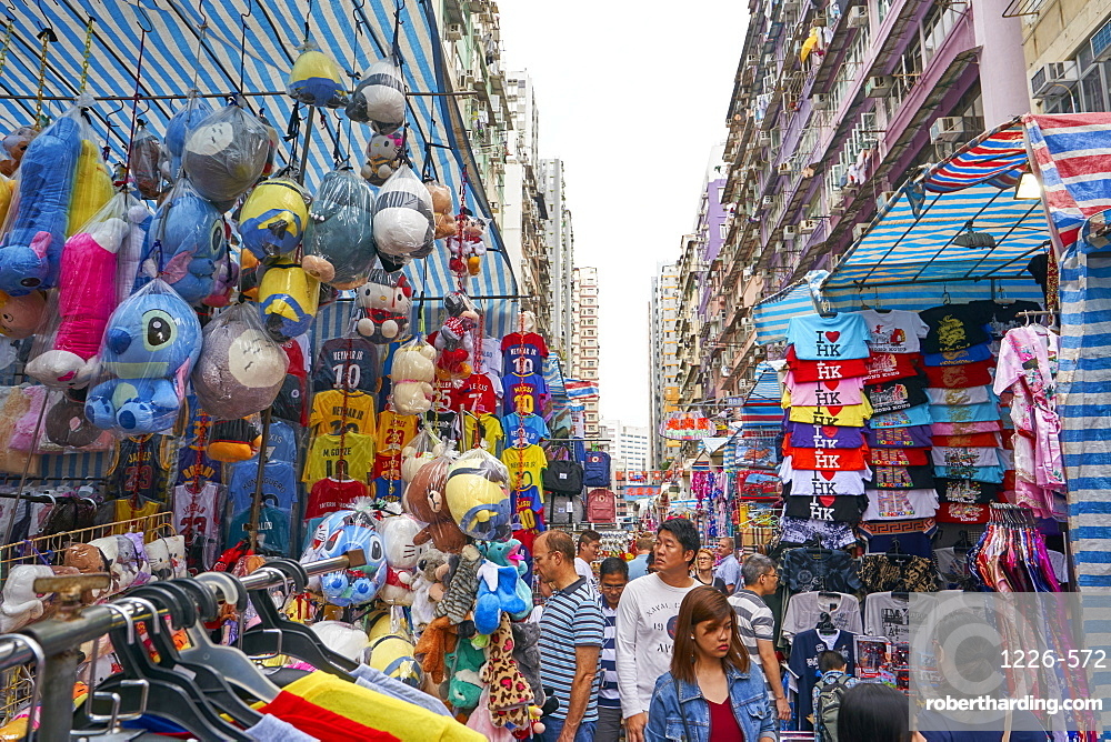 Ladies Market in Mong Kok, Kowloon, Hong Kong