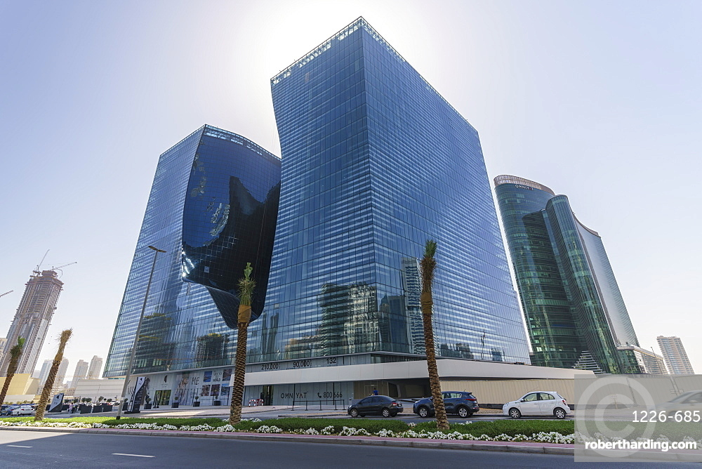 The Opus Building designed by architect Zaha Hadid, Business Bay, Dubai, United Arab Emirates, Middle East