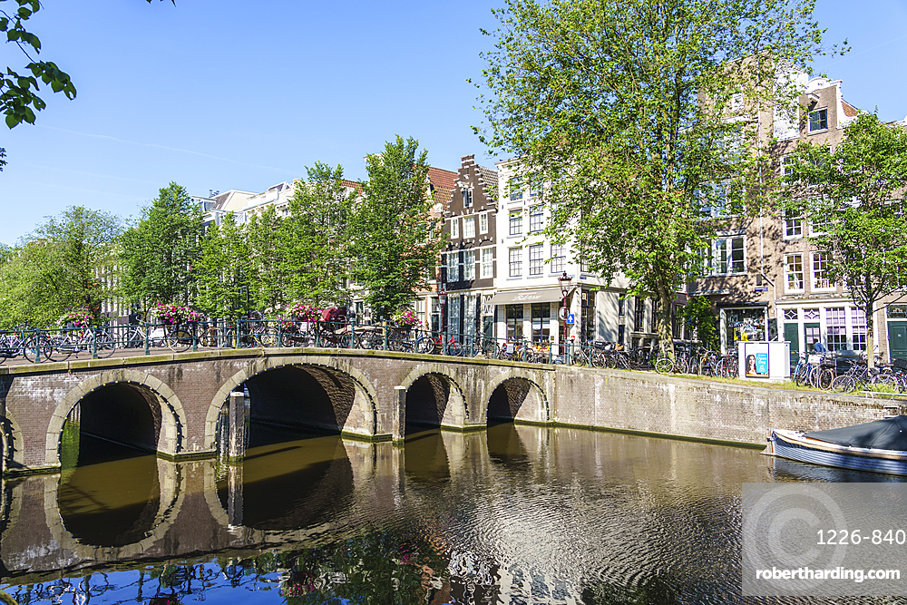 A bridge over the Herengracht canal, Amsterdam, Netherlands