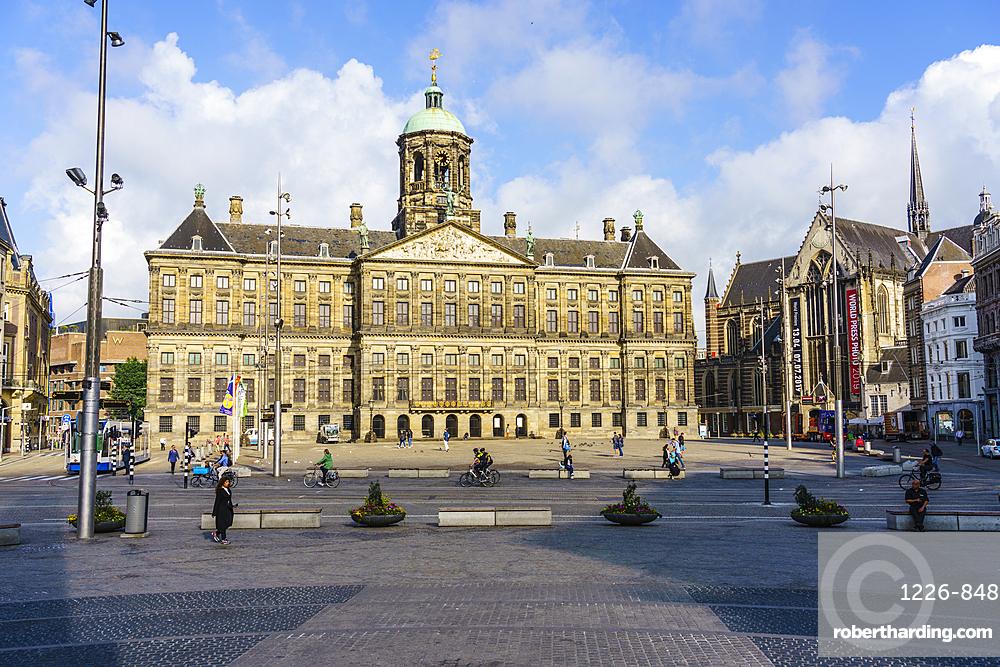 Royal Palace, Dam Square, Amsterdam, North Holland, The Netherlands, Europe