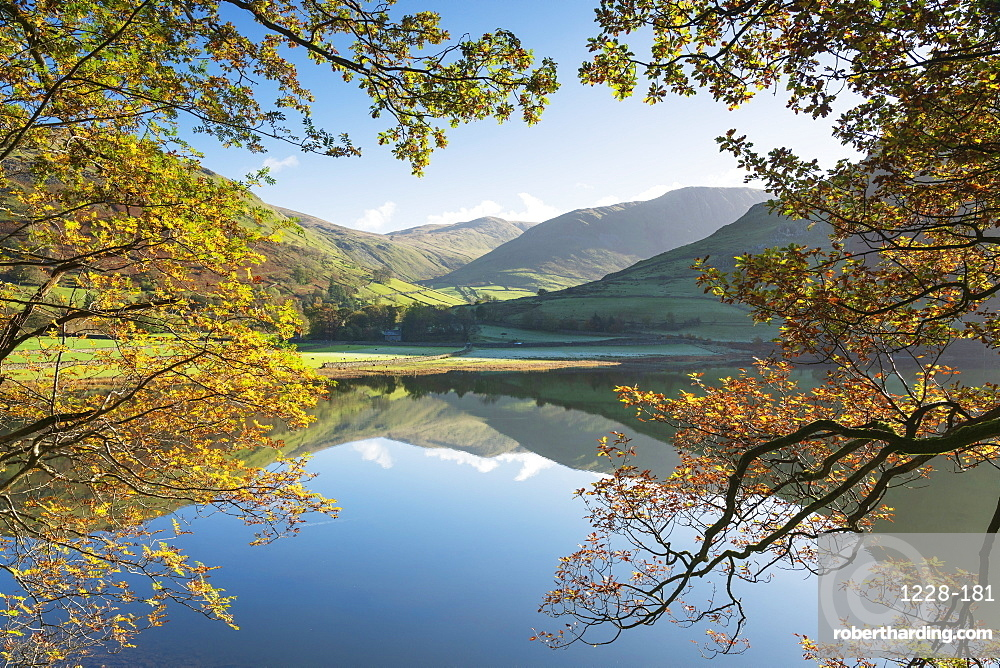 Autumn colours and clear reflections in Brothers Water, Lake District National Park, UNESCO World Heritage Site, Cumbria, England, United Kingdom, Europe