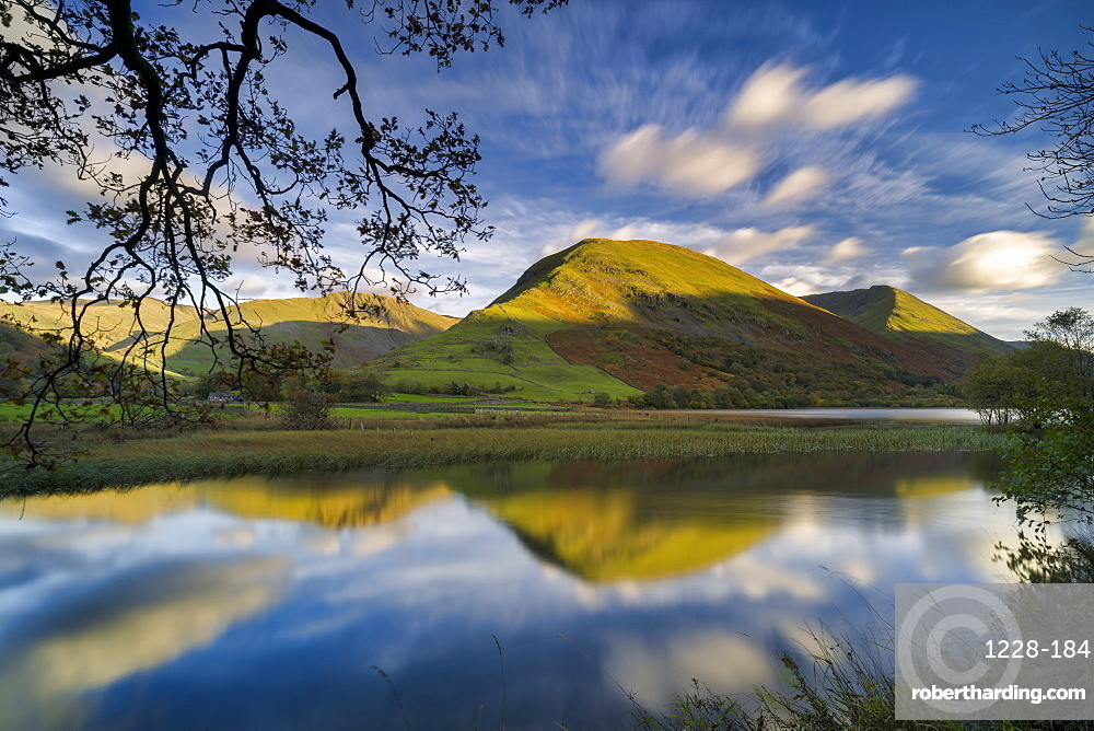 Hartstop Dodd reflected in Brothers Water, Patterdale, Lake District National Park, UNESCO World Heritage Site, Cumbria, England, United Kingdom, Europe