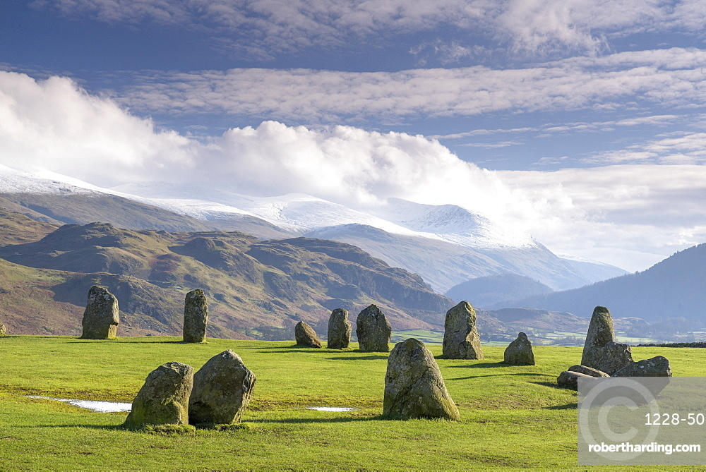 Castlerigg Stone Circle, near Keswick, Lake District National Park, Cumbria, England, United Kingdom, Europe