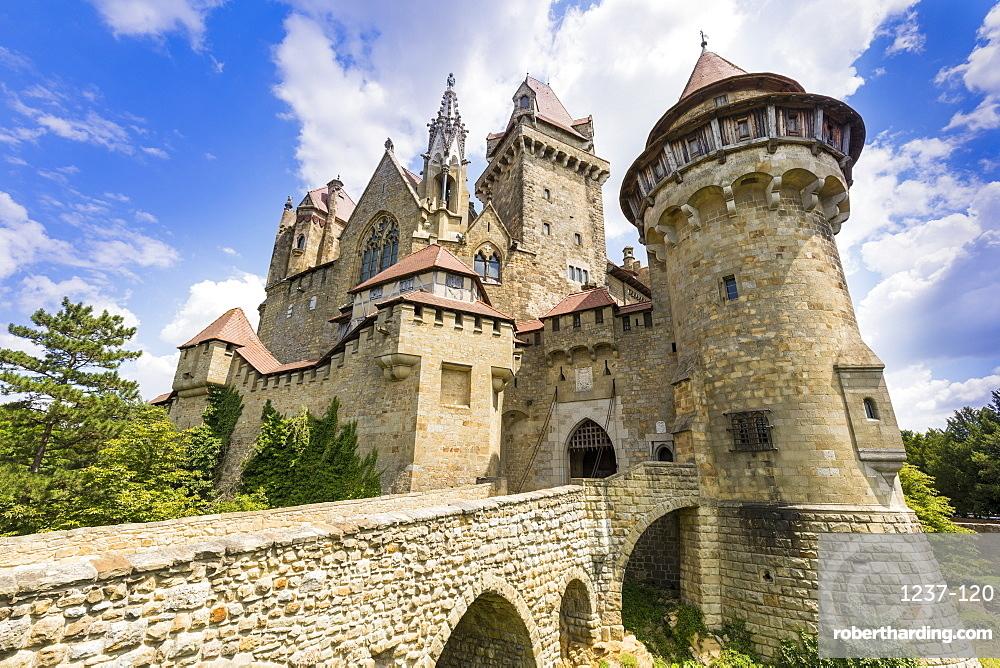 Burg Kreuzenstein castle, Leobendorf, Weinviertel Region, Lower Austria, near Vienna, Austria, Europe