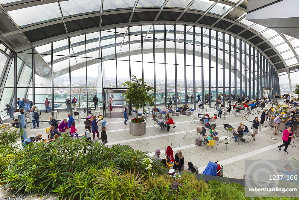 Sky Garden at the Walkie Talkie (20 Fenchurch Street), City of London, London, England, United Kingdom, Europe