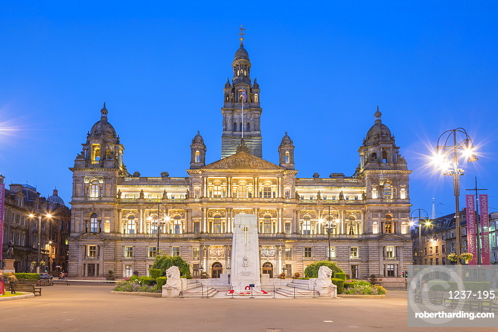 Glasgow City Chambers, George Square, Glasgow, Scotland, United Kingdom, Europe