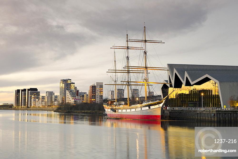 Riverside Museum, The Glenlee, River Clyde, Glasgow, Scotland, United Kingdom, Europe