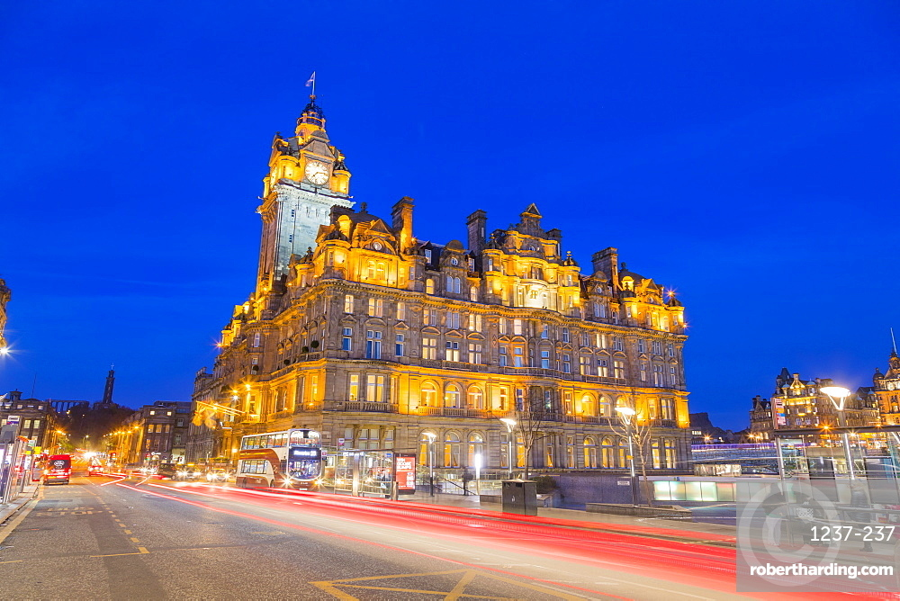 Balmoral Hotel, Princes Street, UNESCO World Heritage Site, Edinburgh, Scotland, United Kingdom, Europe.