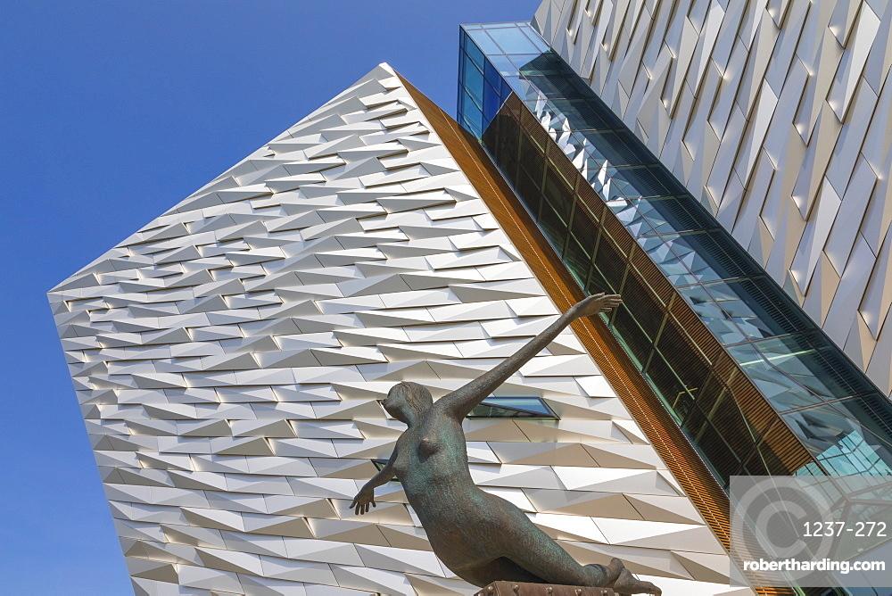 Titanica scuplture, Titanic Belfast, Belfast, Ulster, Northern Ireland, United Kingdom, Europe