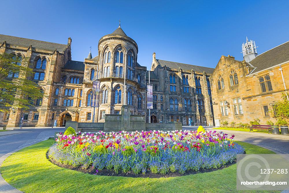 Glasgow University, entrance to visitor centre, Scotland, United Kingdom, Europe