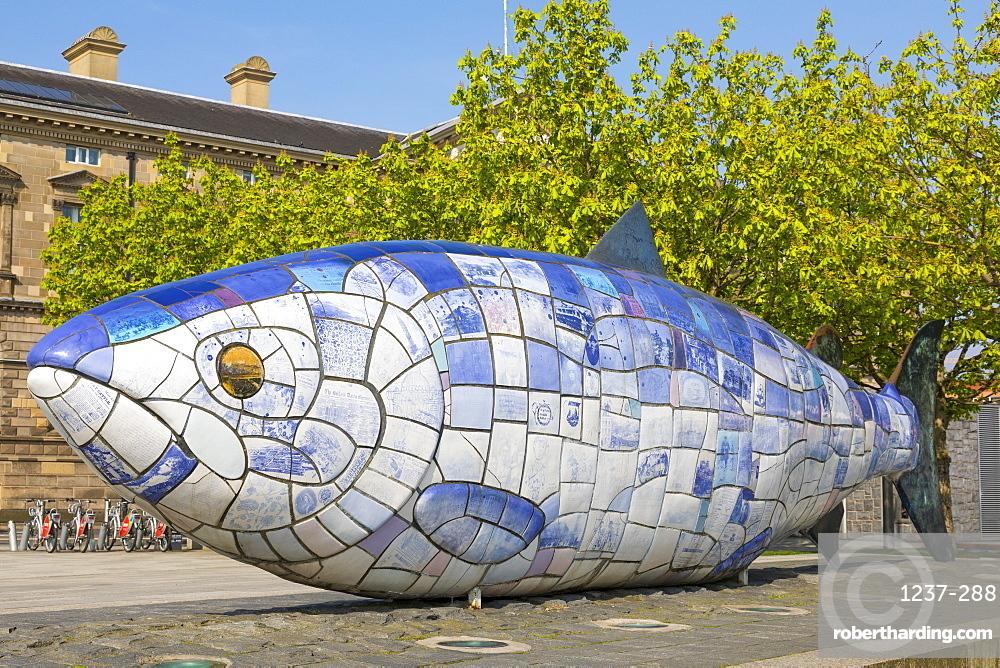Big Fish, Donegall Quay, Belfast, Ulster, Northern Ireland, United Kingdom, Europe