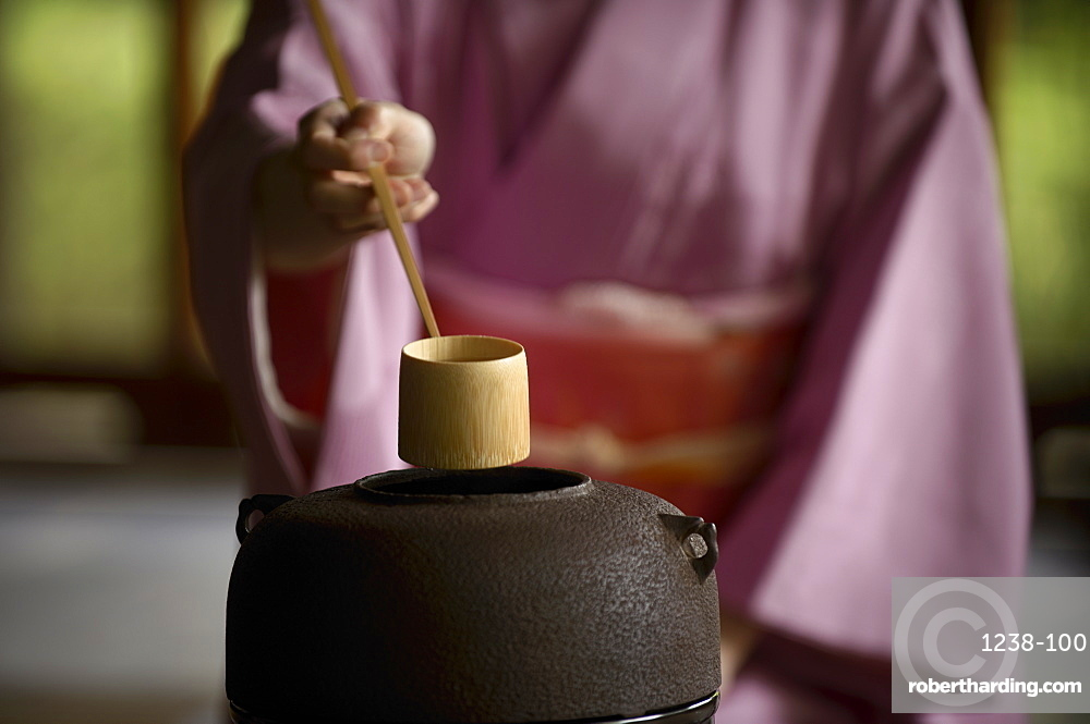 Tea ceremony in Shodensanso, Kyoto, Japan, Asia