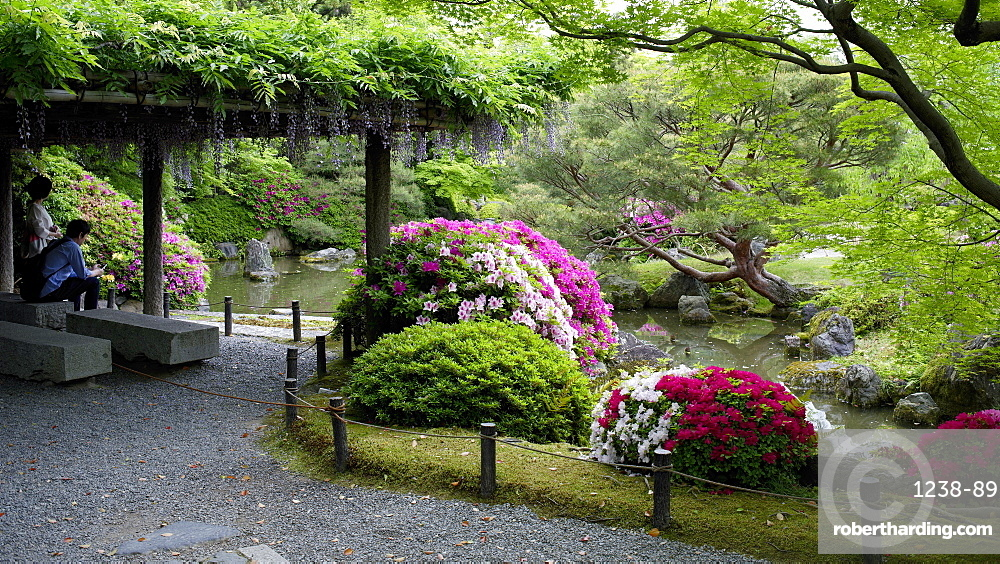 Jonan-gu shrine gardens, Kyoto, Japan, Asia