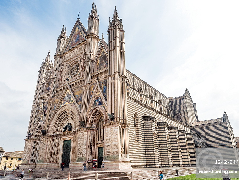 Orvieto Cathedral (Duomo), Orvieto, Tuscany, Italy, Europe