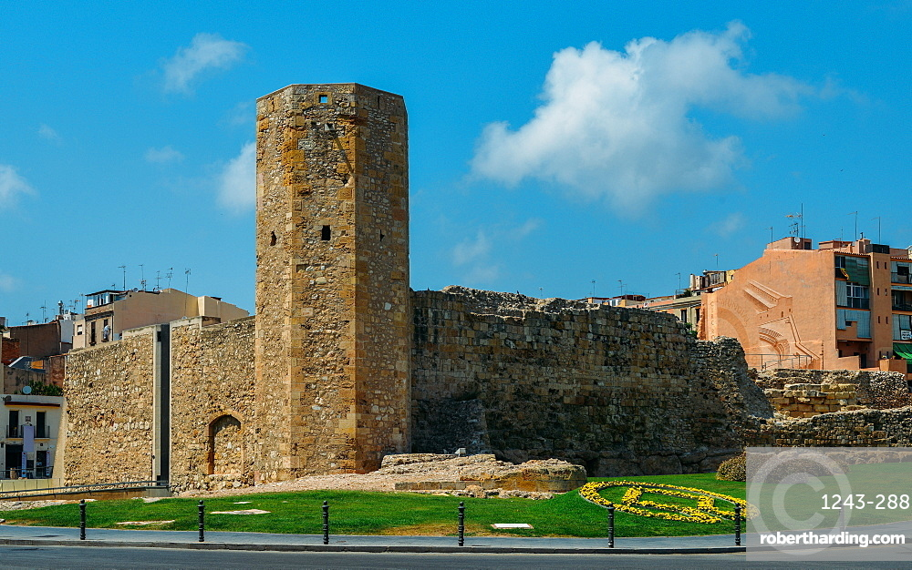 Open-air and underground ruins of a 1st century Roman circus (chariot-racing track) and Tower, UNESCO World Heritage Site, Tarragona, Catalonia, Spain, Europe