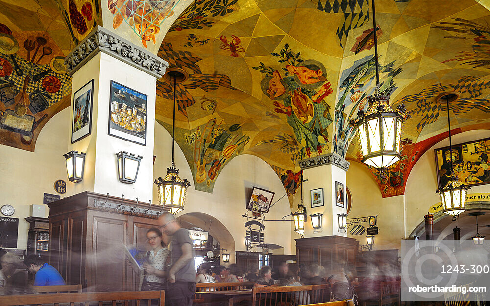 Long exposure of famous Hofbrauhaus Beer Hall in Munich, Bavaria, Germany