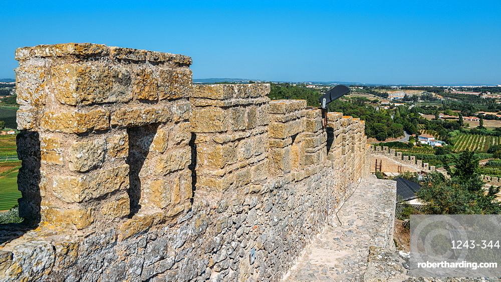 Castle Ramparts at Castelo de Obidos, Oeste, Leiria District, Portugal, Europe