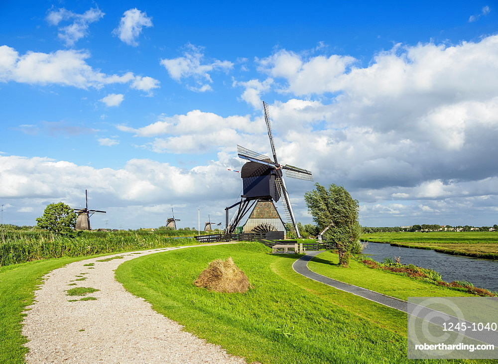 Windmill in Kinderdijk, UNESCO World Heritage Site, South Holland, The Netherlands