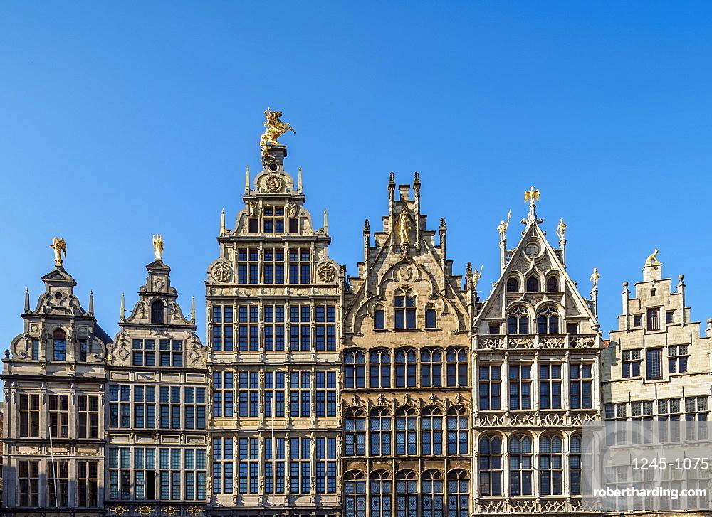 Guild Houses on Grote Markt, Antwerp, Belgium, Europe
