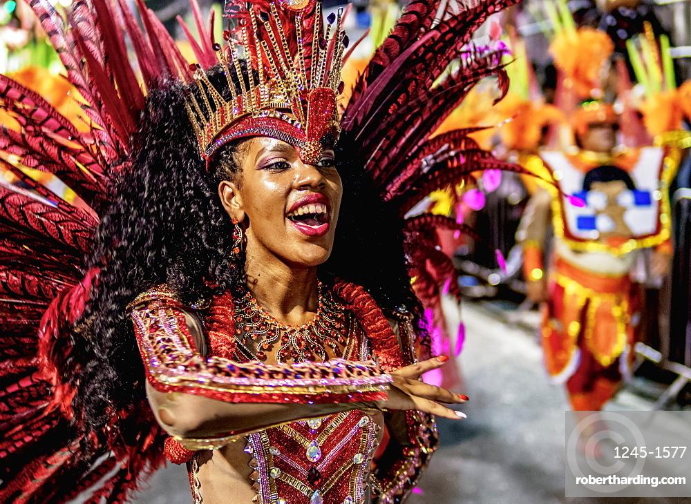 Samba Dancer at the Carnival Parade in Rio de Janeiro, Brazil