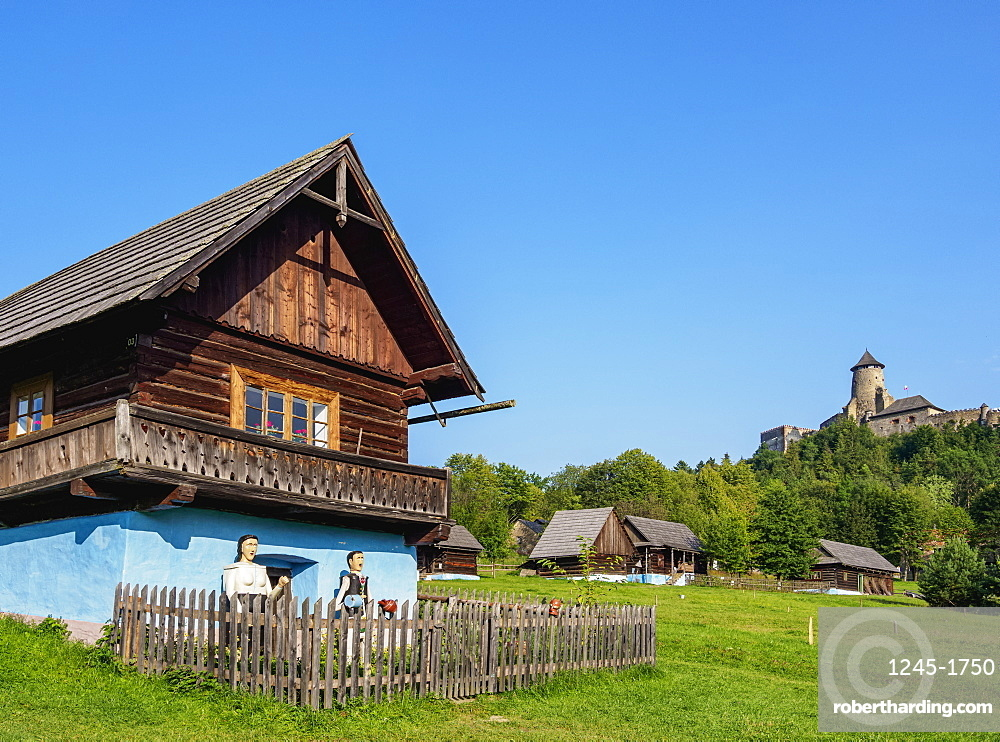 Huts in Open Air Museum at Stara Lubovna, Presov Region, Slovakia
