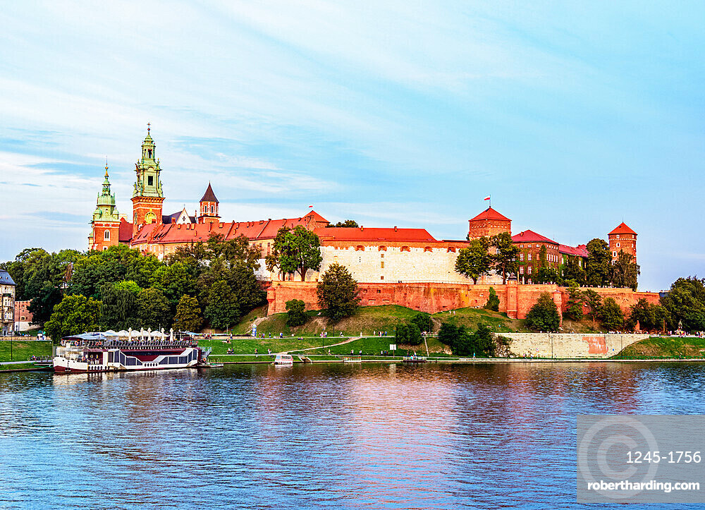 Wawal Hill and Vistula River, Cracow, Lesser Poland Voivodeship, Poland