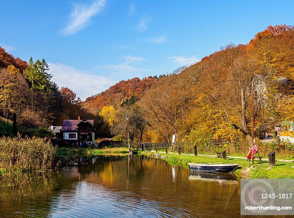Trout Pond in Ojcow National Park, Krakow-Czestochowa Upland or Polish Jurassic Highland, Lesser Poland Voivodeship, Poland