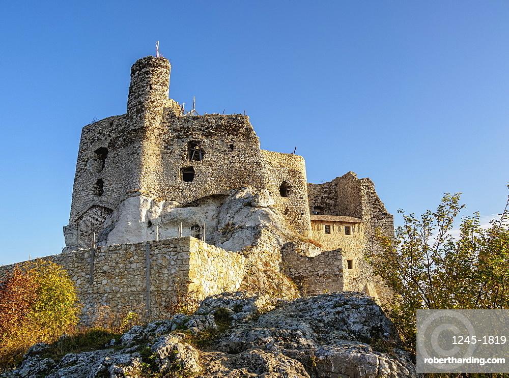 Mirow Castle Ruins, Trail of the Eagles' Nests, Krakow-Czestochowa Upland or Polish Jura, Silesian Voivodeship, Poland