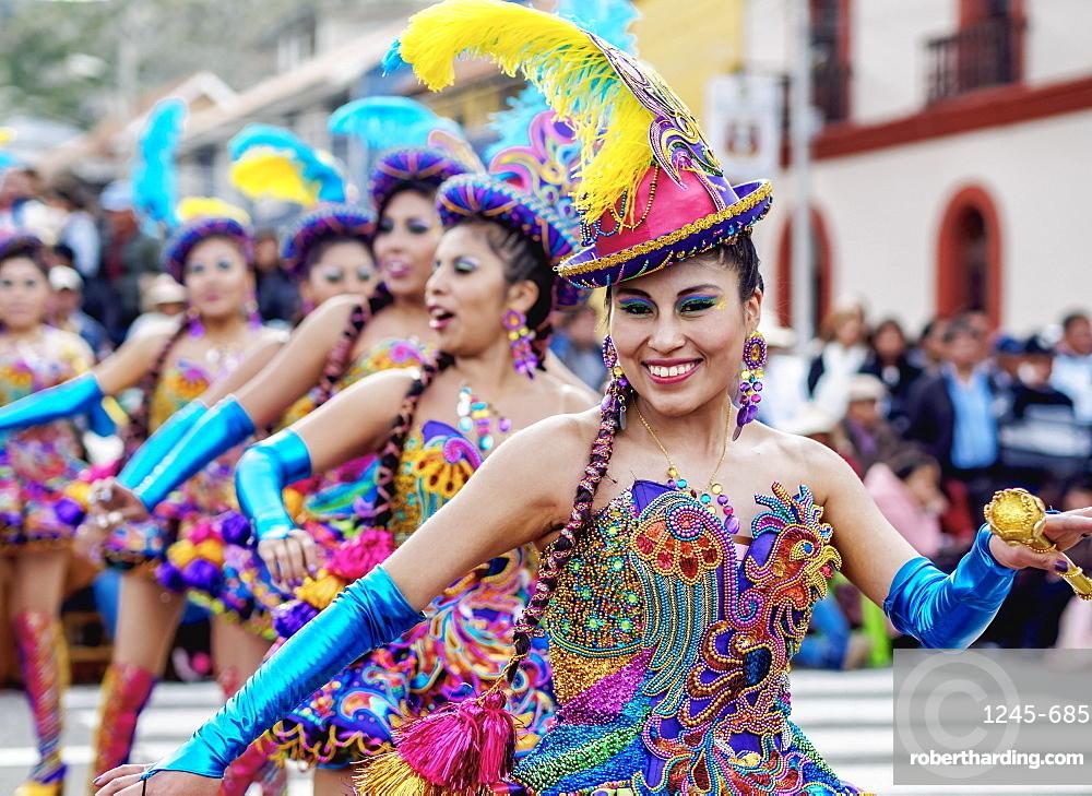 Fiesta de la Virgen de la Candelaria, Main Square, Puno, Peru, South America