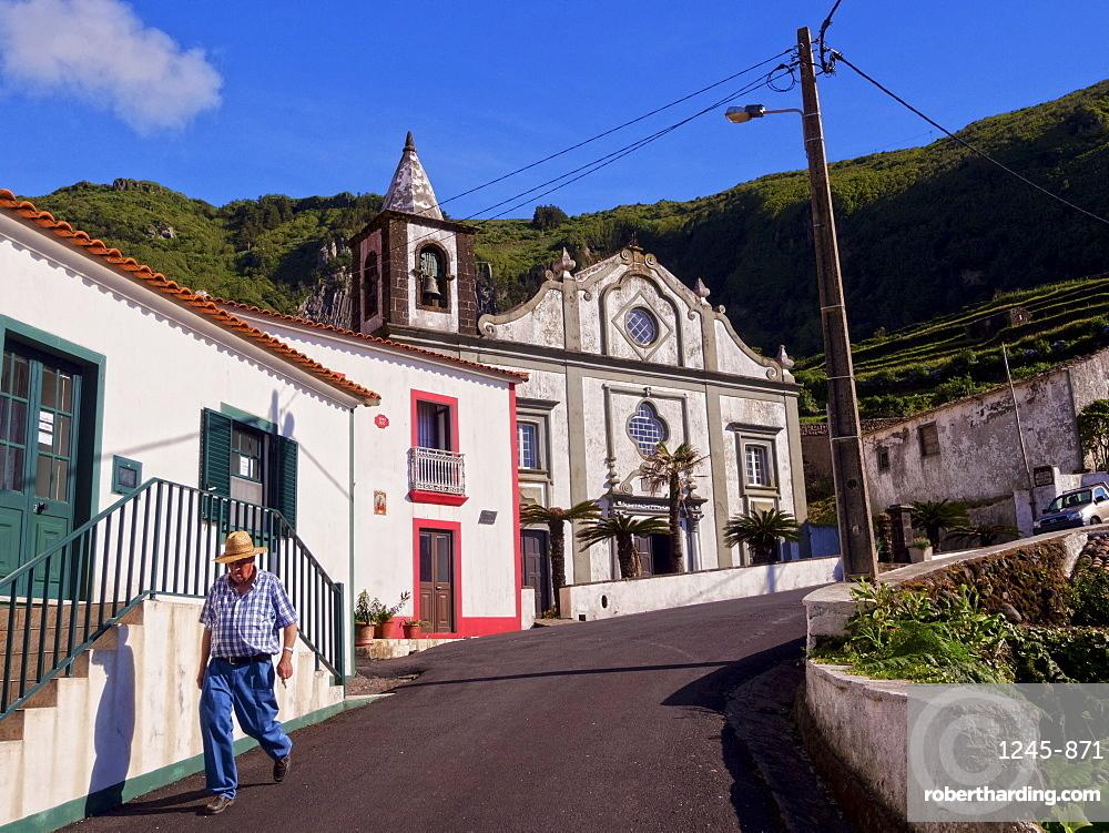Church in Fajazinha, Flores Island, Azores, Portugal