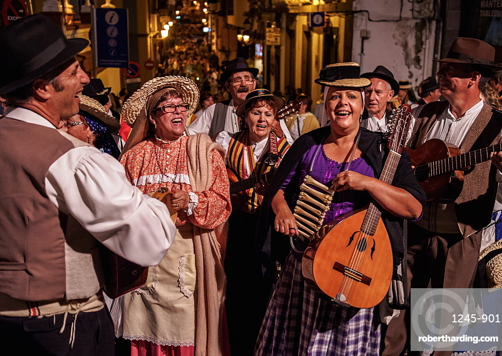 Baile de Magos, traditional street party, Icod de los Vinos, Tenerife Island, Canary Islands, Spain
