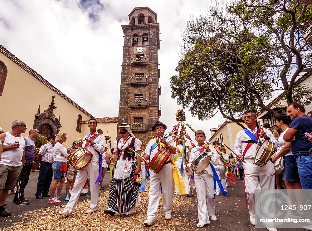 Romeria de San Benito de Abad, traditional street party in San Cristobal de La Laguna, Tenerife Island, Canary Islands, Spain