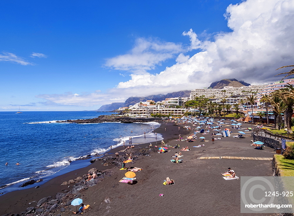 Beach in Puerto de Santiago, Tenerife Island, Canary Islands, Spain, Atlantic, Europe