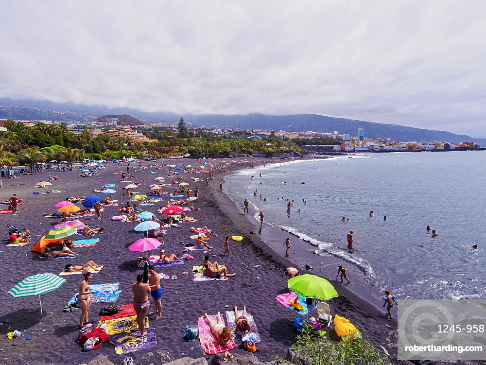 Beach in Puerto de la Cruz, Tenerife Island, Canary Islands, Spain