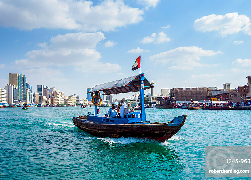 Abra Boat on Dubai Creek, Dubai, United Arab Emirates, Middle East