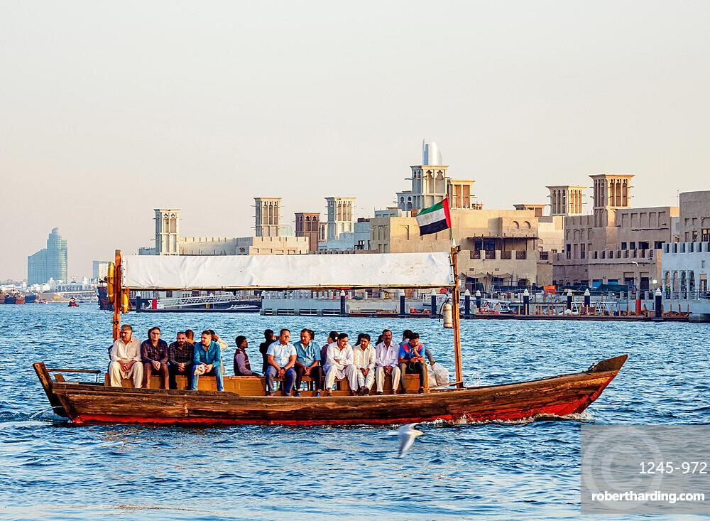 Abra Boat on Dubai Creek, Dubai, United Arab Emirates, Middle East