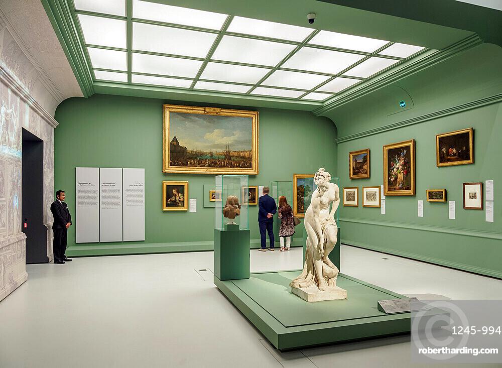 Louvre Museum, interior, Abu Dhabi, United Arab Emirates, Middle East