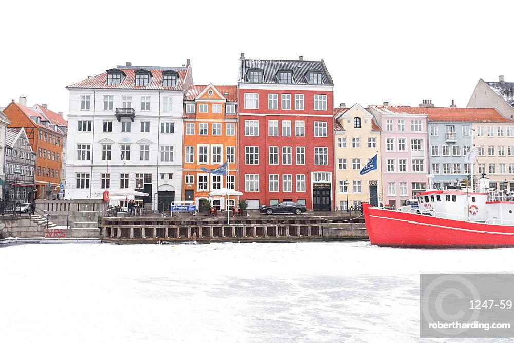 Frozen Mindeankeret, Copenhagen, Denmark, Scandinavia, Europe
