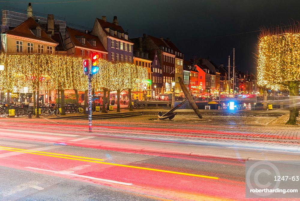 Long exposure of Anchor and Mindeankeret, Copenhagen, Denmark, Scandinavia, Europe