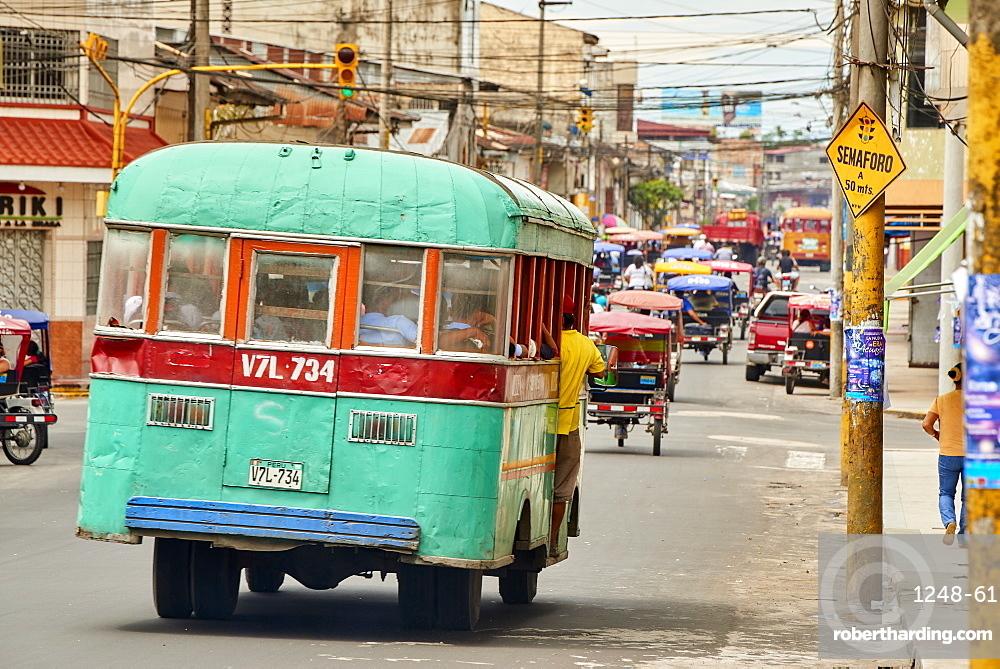 Bus in Iquitos, Peru, South America