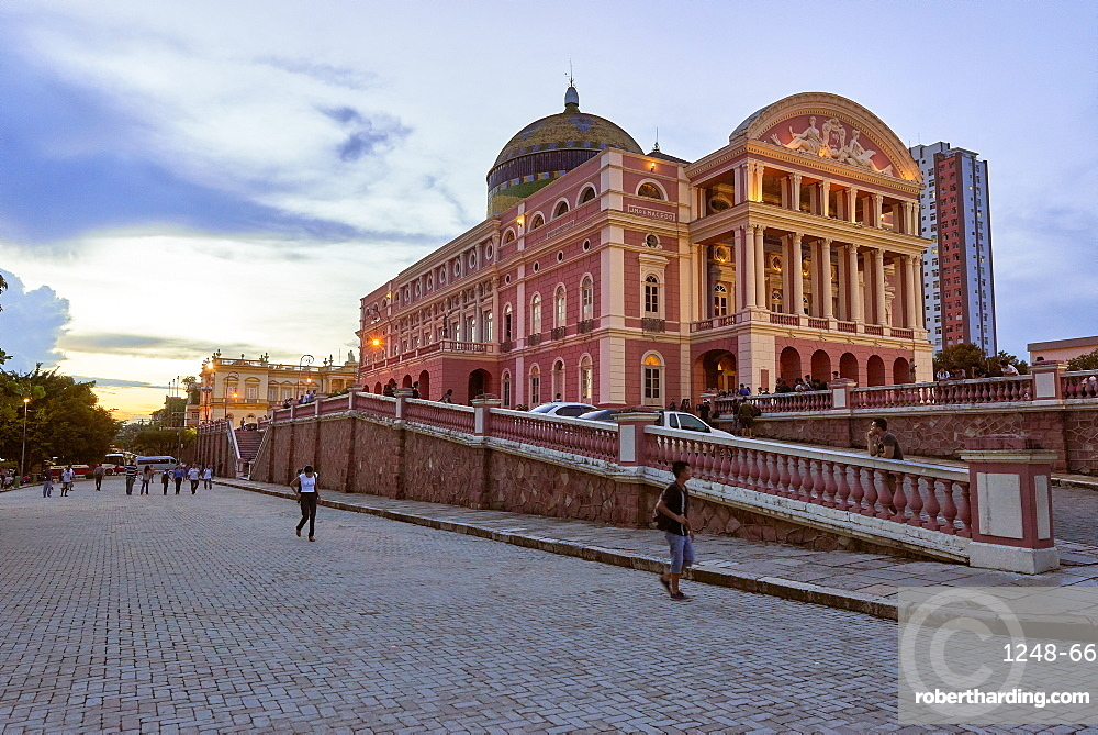 The famous opera house of Teatro Amazonas in Manaus, Brazil, South America