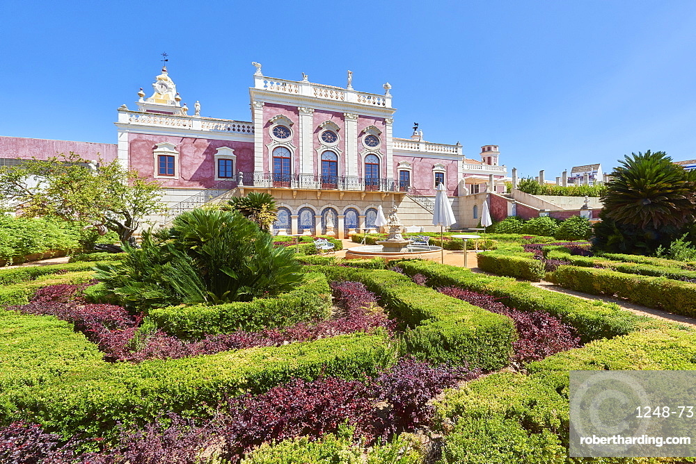 Entrance to Estoi Palace, in the Algarve, Portugal, Europe