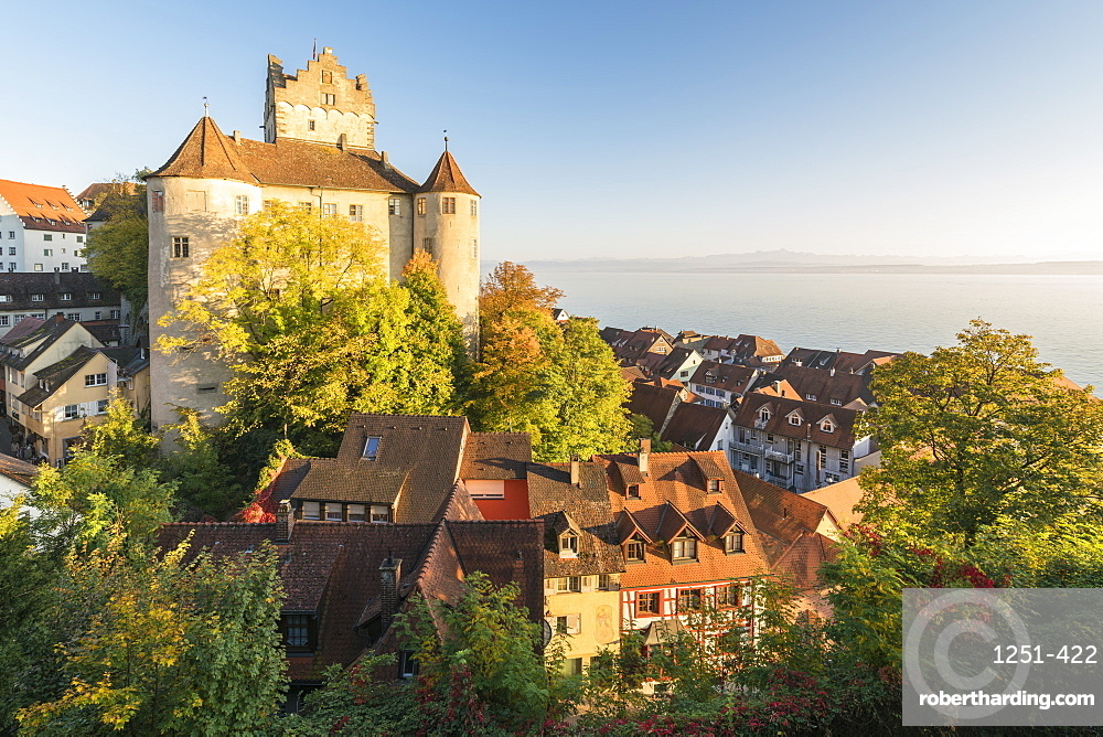 Old Castle from an elevated point of view, Meersburg, Baden-Wurttemberg, Germany, Europe