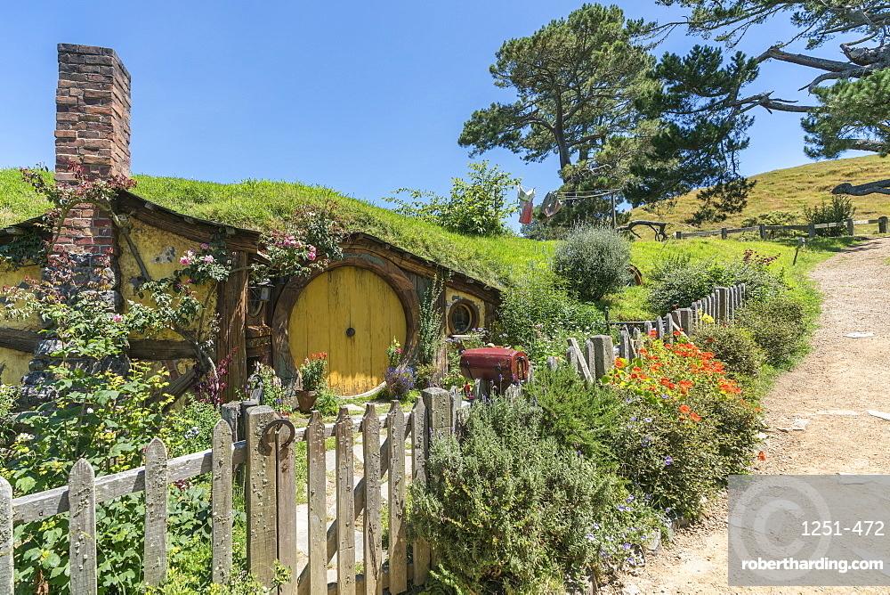 Samwise Gamgee's house. Hobbiton Movie Set, Matamata, Waikato region, North Island, New Zealand.