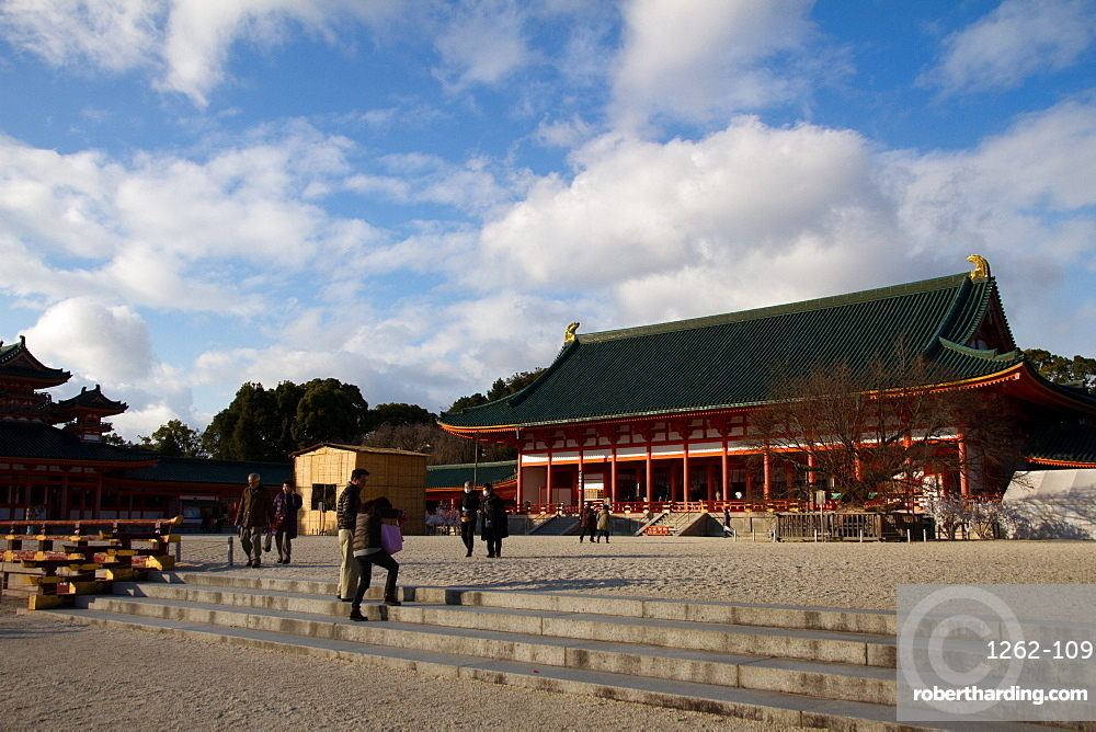 The Heian Jingu Shrine of Sakyo-ku, Kyoto, Japan, Asia