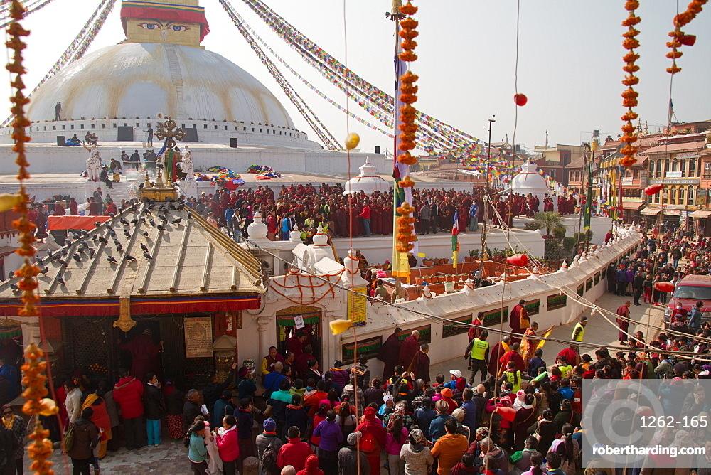 Tibetan people of Boudhanath Stupa, Kathmandu, Nepal